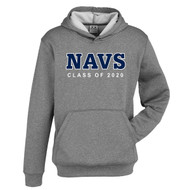 TMS Biz Collection Youth Pull on Hoodie - Grey Marle (NCC-309-GM)