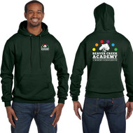 BCA Champion Adult Double Dry Eco Pullover Hood - Dark Green (BCA-001-DG)