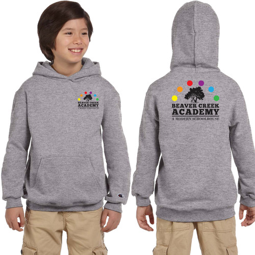 BCA Champion Youth Double Dry Eco Pullover Hood - Light Steel (BCA-301-LS)