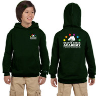 BCA Champion Youth Double Dry Eco Pullover Hood - Dark Green (BCA-301-DG)