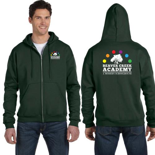 BCA Champion Adult Double Dry Eco® Full-Zip Hood - Dark Green (BCA-002-DG)