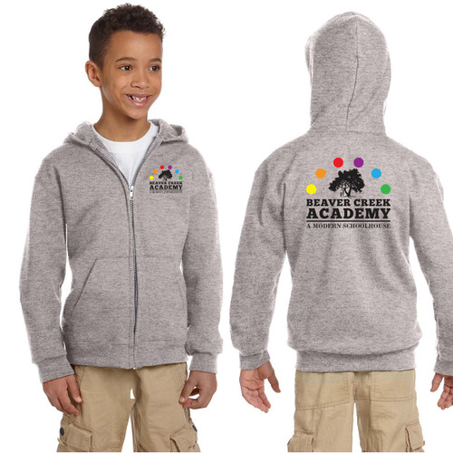 BCA Champion Youth Double Dry Eco® Full-Zip Hood - Light Steel (BCA-302-LS)