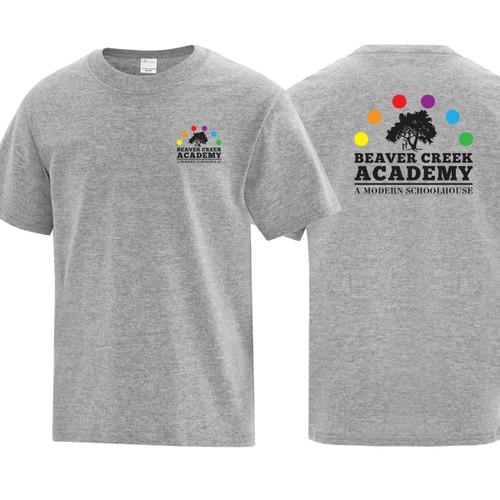 BCA ATC Youth Everyday Cotton Tee - Athletic Heather (BCA-303-AH)