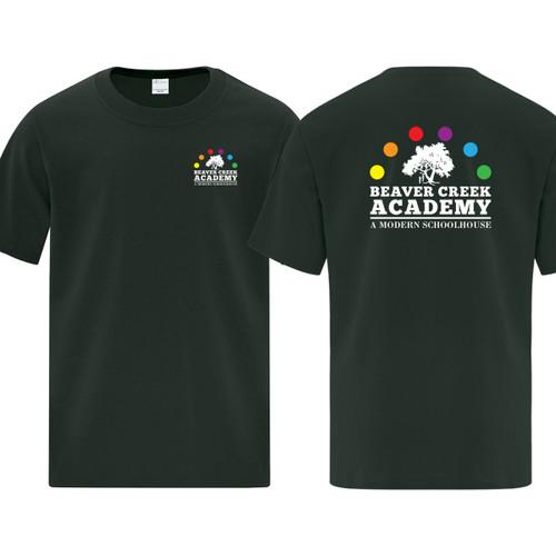 BCA ATC Youth Everyday Cotton Tee - Dark Green (BCA-303-DG)