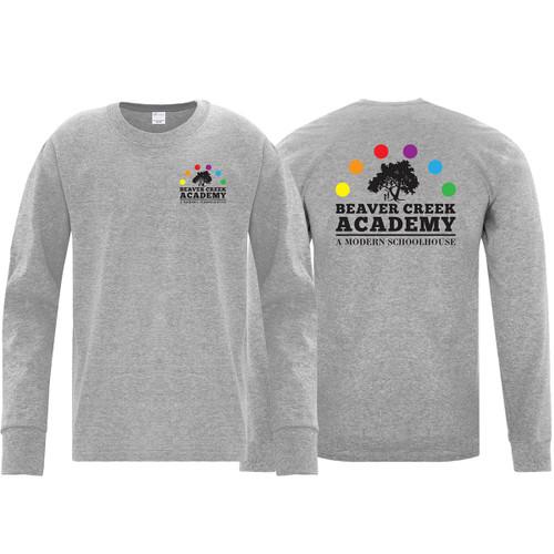 BCA ATC Youth Everyday Cotton Long Sleeve Tee - Athletic Heather (BCA-304-AH)
