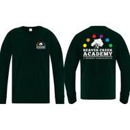 BCA ATC Youth Everyday Cotton Long Sleeve Tee - Dark Green (BCA-304-DG)