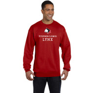 SLS Champion Men's 9 oz. Double Dry Eco Crew (Design 1) - Red (SLS-124-RE)