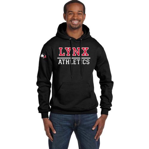 SLSS Champion Men's Double Dry Eco Pullover Hood (Design 2) - Black (SLS-128-BK)