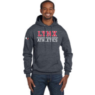 SLSS Champion Men's Double Dry Eco Pullover Hood (Design 2) - Charcoal Heather (SLS-128-CH)