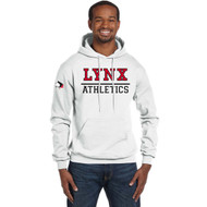 SLSS Champion Men's Double Dry Eco Pullover Hood (Design 2) - White (SLS-128-WH)