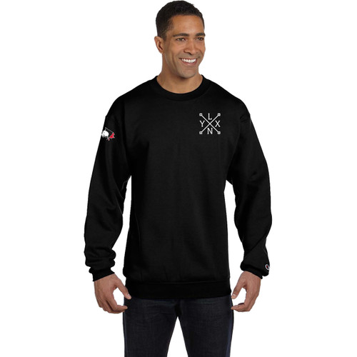 SLS Champion Men's 9 oz. Double Dry Eco Crew (Design 3)- Black (SLS-130-BK)