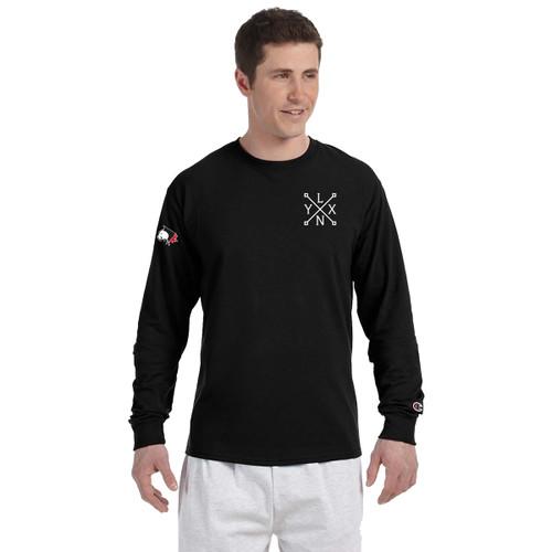 SLSS Champion Men's Long-Sleeve T-Shirt (Design 3) - Black (SLS-132-BK)