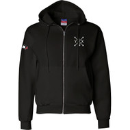 SLSS Champion Men's Double Dry Eco Full-Zip Hood - Black (SLS-133-BK)
