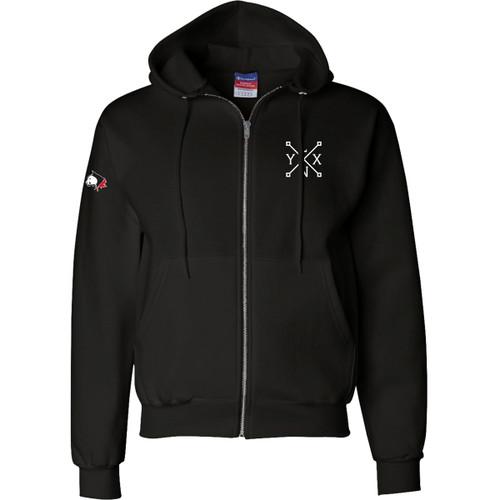 SLSS Champion Men's Double Dry Eco Full-Zip Hood - Black (SLS-133-BK)