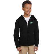 BMR Champion Youth Eco Fleece Ful Zip Hoody - Black (BMR-306-BK)