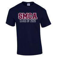 SMCA Gildan Adult Grad Printed Cotton T-Shirt - Navy (SMCA-001-NY)