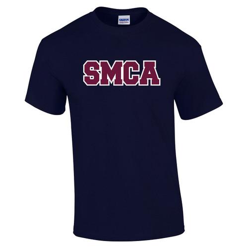 SMCA Gildan Adult Printed Cotton T-Shirt - Navy (SMCA-003-NY)