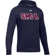 SMCA Under Armour Men's Embroidered Hustle Fleece Hoody - Navy. (SMCA-105-NY)