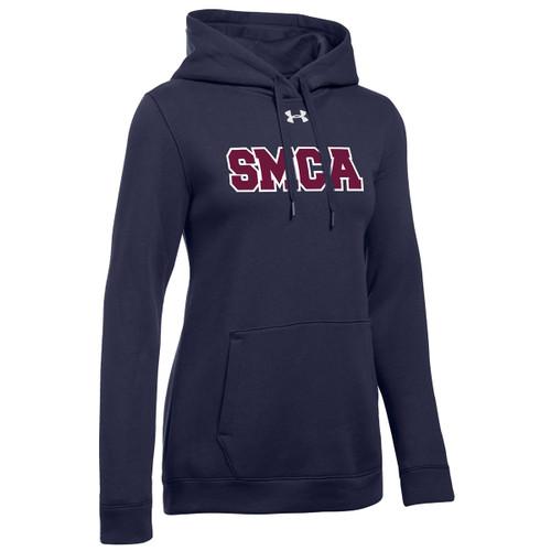 SMCA Under Armour Women's Embroidered Hustle Fleece Hoody - Navy (SMCA-206-NY)