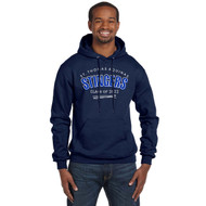 STA Champion Adult Double Dry Eco Pullover Grad Hoodie - Navy (STA-028-NY)