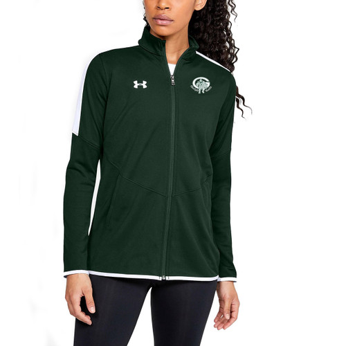 GCVI UA Women's Rival Knit Jacket - Forest Green (GCV-210-FO)