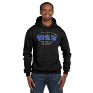 STA Champion Adult Double Dry Eco Pullover Grad Hoodie - Black (STA-028-BK)