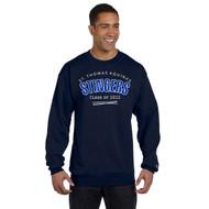STA Champion Adult Powerblend Eco Fleece Crew Grad Sweater - Navy (STA-031-NY)