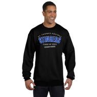 STA Champion Adult Powerblend Eco Fleece Crew Grad Sweater - Black (STA-031-BK)