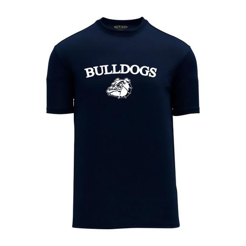 OLL Phys-Ed Athletic Knit Unisex Dryflex T-Shirt - Navy (OLL-018-NY)
