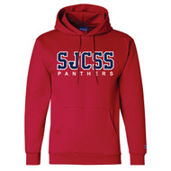 SJS Champion Adult Double Dry Eco Pullover Panther Hoody - Scarlet (SJS-020-SC)