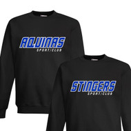 STA Champion Adult Powerblend Eco Fleece Sweater - Black (STA-032-BK