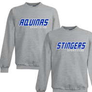 STA Champion Adult Powerblend Eco Fleece Sweater - Light Steel (STA-032-LS)
