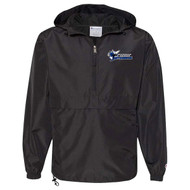 STA Champion Adult Packable Anorak 1/4 Zip Jacket - Black (STA-034-BK)