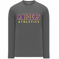 EDH Athleticknit Men's Long-Sleeve T-Shirt - Heather Charcoal (EDH-110-HC)