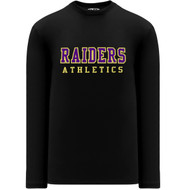 EDH Athleticknit Women's Long-Sleeve T-Shirt - Black (EDH-210-BK)
