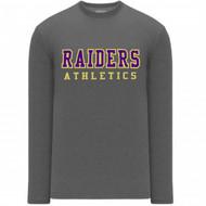 EDH Athletic Knit Women's Long-Sleeve T-Shirt - Heather Charcoal (EDH-210-HC)