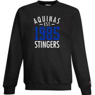 STA Champion Adult Powerblend Eco Fleece Crew Sweater - Black (STA-036-BK)