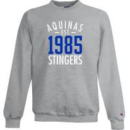 STA Champion Adult Powerblend Eco Fleece Crew Sweater- Light Steel (STA-036-LS)