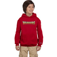 ACA Champion Powerblend Eco Fleece Youth Hood - Scarlet (ACA-302-SC)