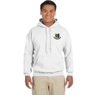FOH Gildan Adult Cotton Hoodie with Embroidered School Crest - White (FOH-003-WH)