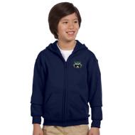 PGS Gildan Youth Heavy Blend Full Zip Hooded Sweatshirt - Navy (PGS-307-NY)