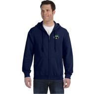PGS Gildan Men's Heavy Blend Full Zip Hooded Sweatshirt - Navy (PGS-107-NY)