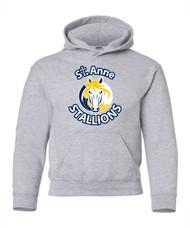 SAS Printed Gildan Youth 50/50 Hoodie-Grey (SAS-312-GY)