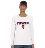 MPS Ladies Missy Fit Cotton Long Sleeve - White