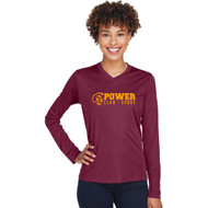 MPS Team 365 Ladies' Zone Performance Long-Sleeve T-Shirt - Maroon (MPS-023-MA)