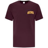GCS ATC Men's Cotton Short Sleeve T Shirt - Maroon (GCS-102-MA)