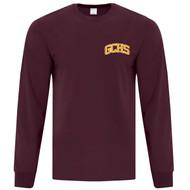 GCS ATC Adult Everyday Long Sleeve T Shirt - Maroon (GCS-003-MA)