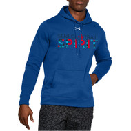 STS Under Armour Men's Hustle Fleece Hoodie - Royal Blue (STS-103-RO)