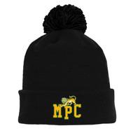 MPC Athletic Knit Brand Winter Acrylic Knit Team Toque - Black (MPC-052-BK.AK-A1830A-001-LG)