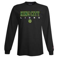 KCS Champion Unisex Long Sleeve T-Shirt (Design 1) - Black (KCS-004-BK)